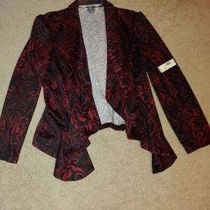 NWT-Black and Red Paisley Blazer